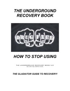 THE UNDERGROUND RECOVERY BOOK 5.0 NEW FRONT COVER