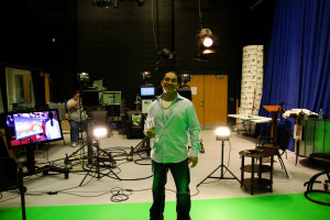 Raj on set at Ask the Therapist